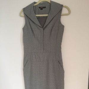 Reiss Gray Wool Sleeveless Dress Size 4 (UK 8)